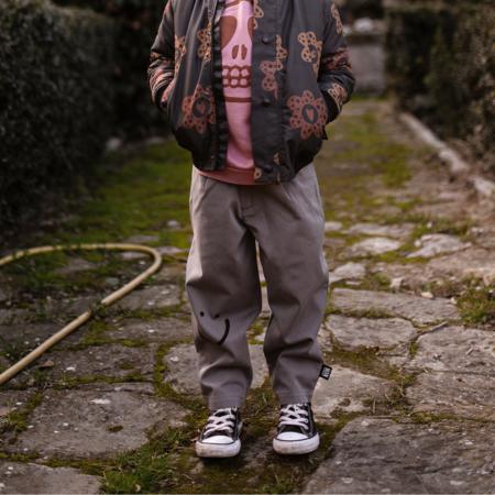 Kids LITTLE MAN HAPPY Smile Chino Pants - Ash