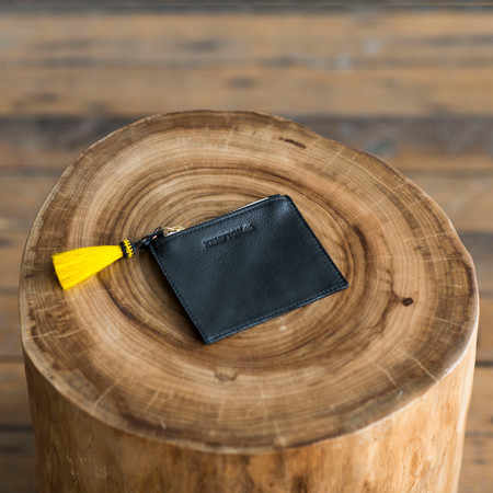 Kempton & Co Tiny Tassel Pouch Black