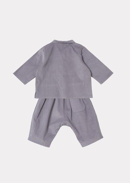 Kids Caramel Flollis Baby Set - Dove Grey