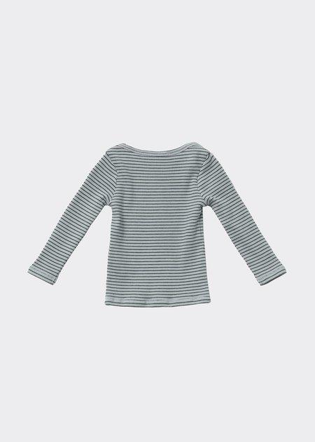 Kids Caramel Kishon T-Shirt - Mint/Chocolate Stripe