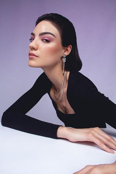 Joomi Lim Asymmetrical Double Layer Crystal Necklaces