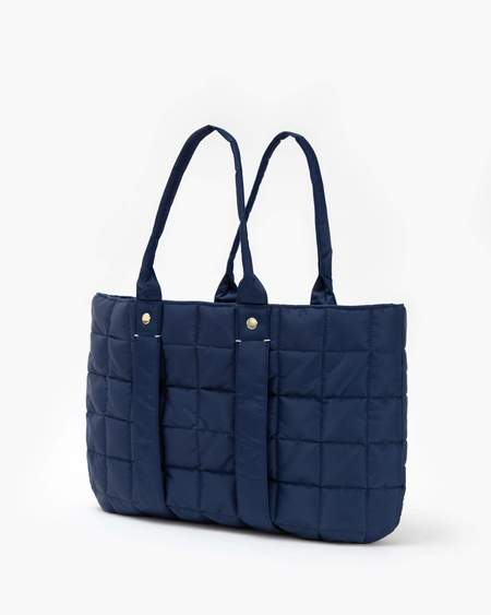 Clare V. La Tropezienne Puffer Bag - Navy