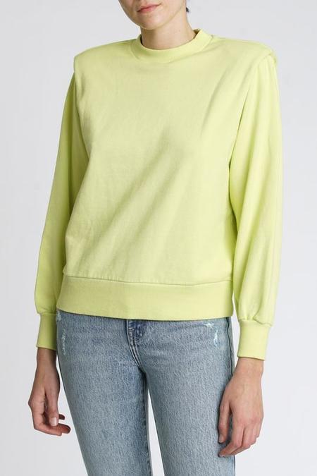 Pistola Kirsten Strong Shoulder Sweatshirt - Citron