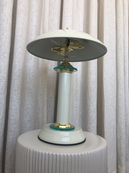 Vintage DECO DOME LAMP - white