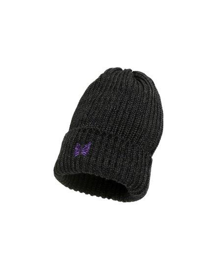 Needles Merino Wool  Watch Cap - Charcoal