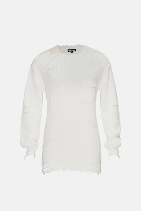 Women's SER.O.YA Devin Sweater - White