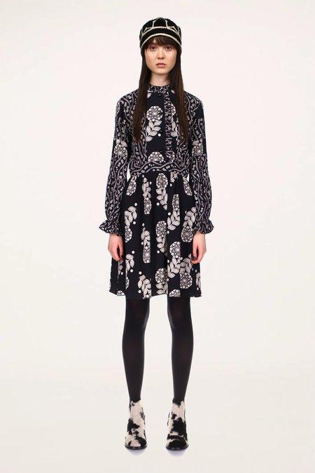 Anna Sui Pop Flowers & Posies Dress - Black Multi