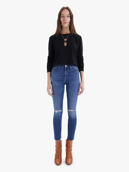 Mother Denim The HW Looker Ankle Fray - Nature Tune Up