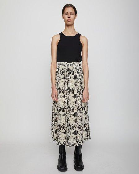 JUST FEMALE Misty Maxi Skirt - Buttercream Fog Art