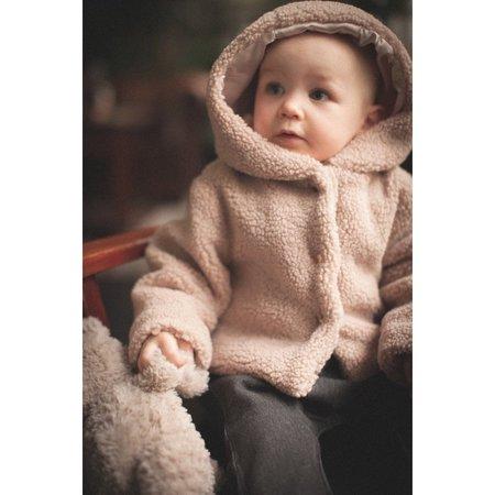 Kids Louis Louise Lion Sherpa Baby Jacket