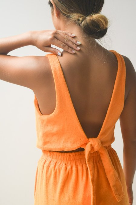 at Dawn. Terry Back Tie Top
