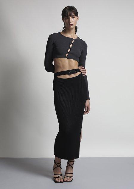 Aya Muse Maggie Cutout Skirt - black