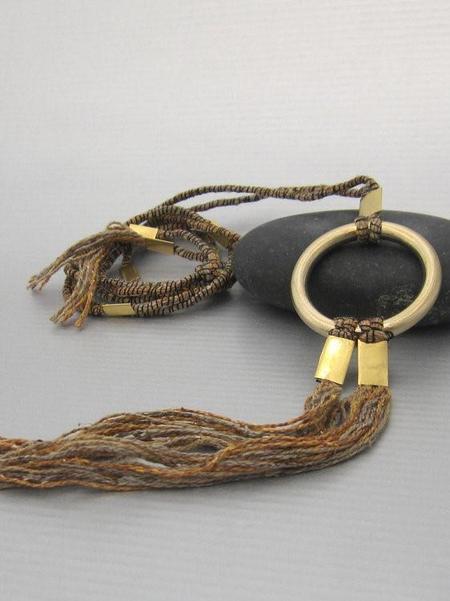Maddalena Bearzi Occhione D'Oro Necklace - Earthy Brown