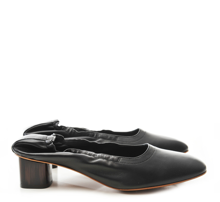 Robert Clergerie Black Nappa Pixie Pump