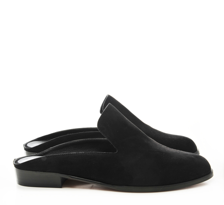 Robert Clergerie Black Suede Alicem Mules