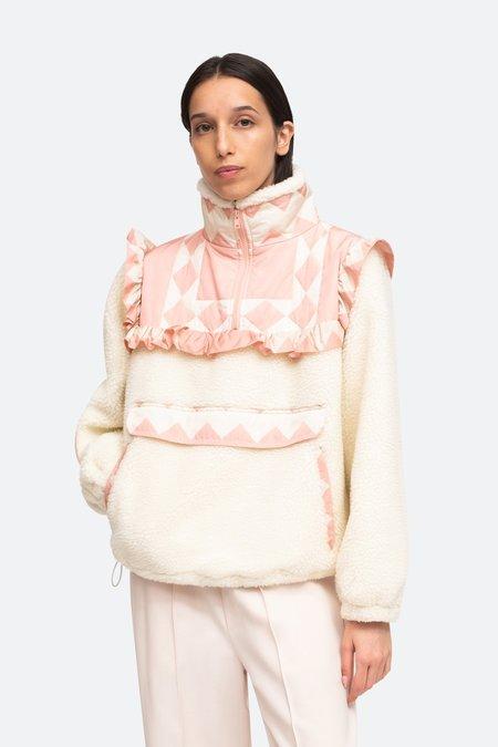 Sea NY Helena Fleece Jacket - Pink