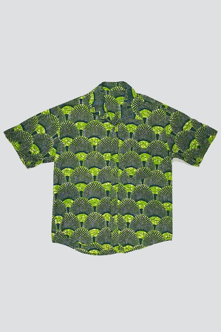 Assembly Cotton Button Up - Geo Peacock