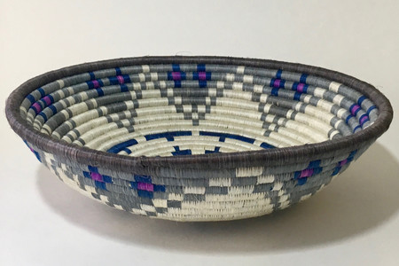 All Across Africa Large Blue/Purple Hope Basket