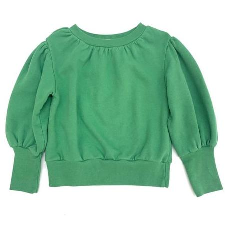 Kids long live the queen puffed sweatshirt - dark green