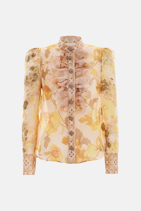 Women's Zimmermann Tempo Scalloped Shirt - Gold
