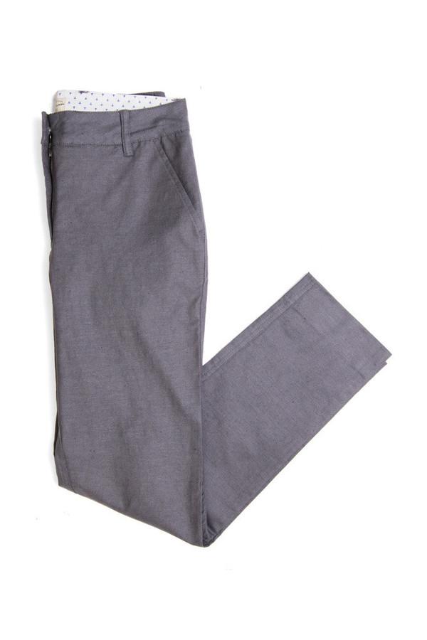 Bridge & Burn Market Trouser Grey Linen