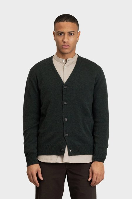 Norse Projects Adam lambswool cardigan  - forest green