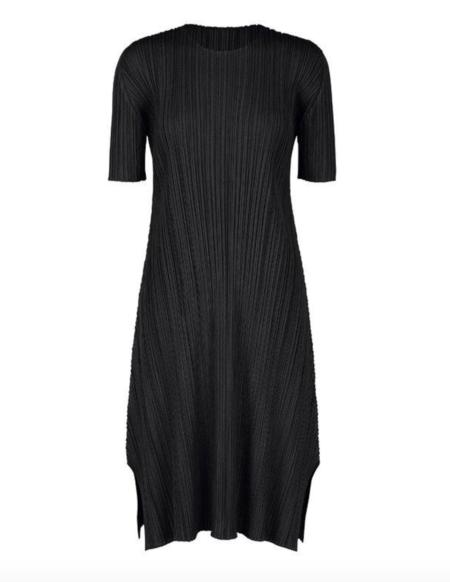 Mellow Dress in Black by Pleats Please