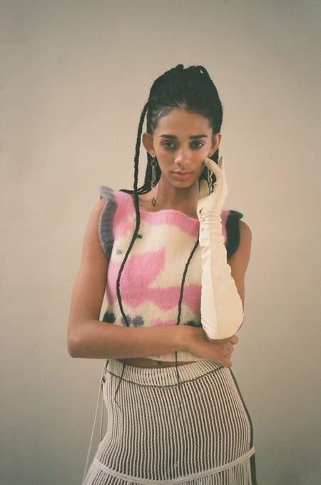 Sophia Khaled Pony Knit Vest