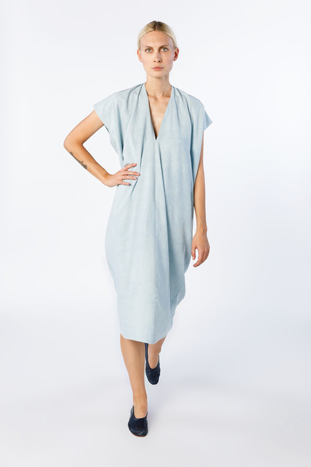 Miranda Bennett In-Stock: Everyday Dress - Silk Noil in Light Indigo