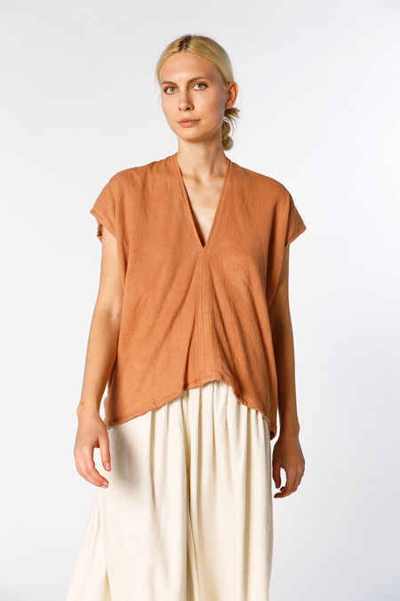Miranda Bennett In-Stock: Everyday Top - Lined Cotton Gauze in Noon