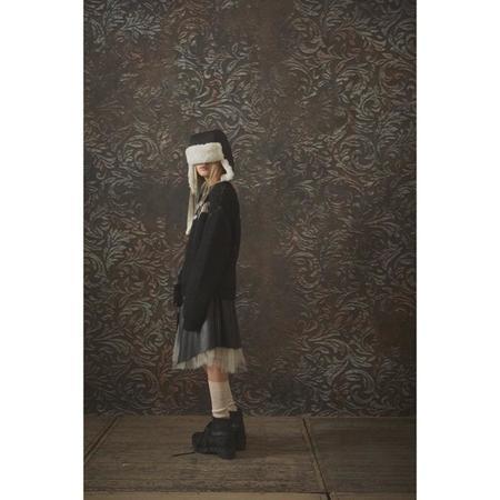 little creative factory punk skirt - black
