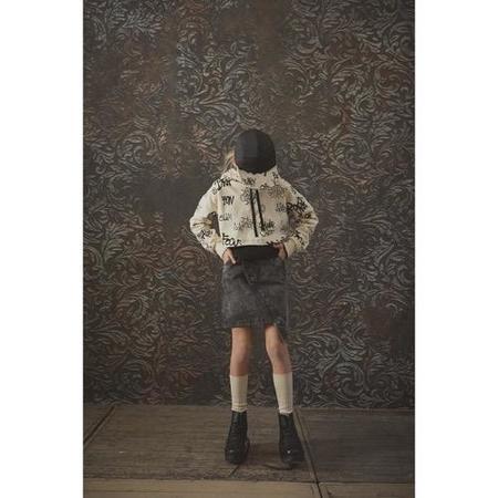 kids little creative factory skirt - stonewash denim