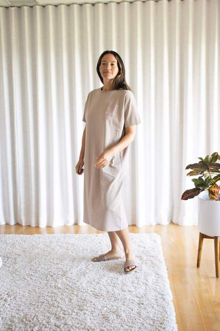 Ichi Antiquités Dry Jersey Dress - Beige