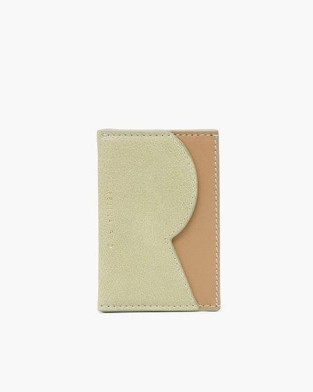 Rejina Pyo RP Card Holder WALLET - Leather Citrus Green/Nappa Almond