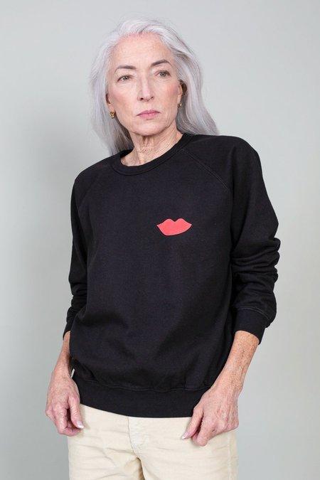 Clare V. Sweatshirt - Black/Poppy Lips