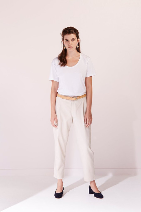 KOWTOW Building Block Scoop Tee in White