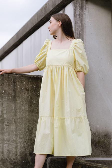 Bronze Age Serenity Puff Sleeve Dress - Lemonade