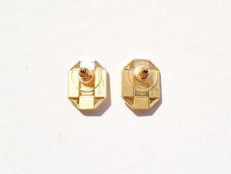 MATTER MATTERS Octagon Studs - Gold/Pearl