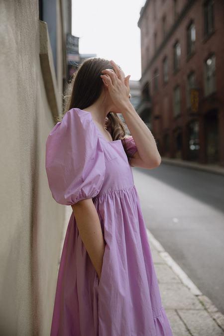 Bronze Age Serenity Puff Sleeve Dress - Lavender