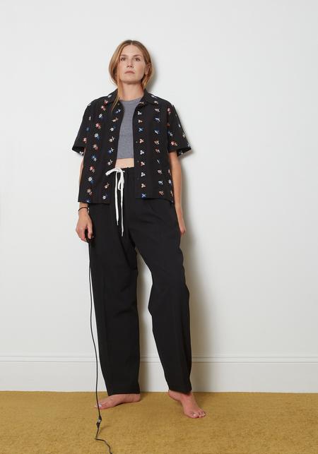 YMC Vegas Short Sleeve Shirt - Floral Black
