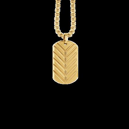 Italgem Palomo SP265 Dog Tag Necklace - Gold