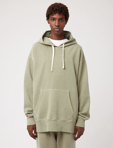 Nigel Cabourn Arrow Hooded Sweatshirt - Army Green