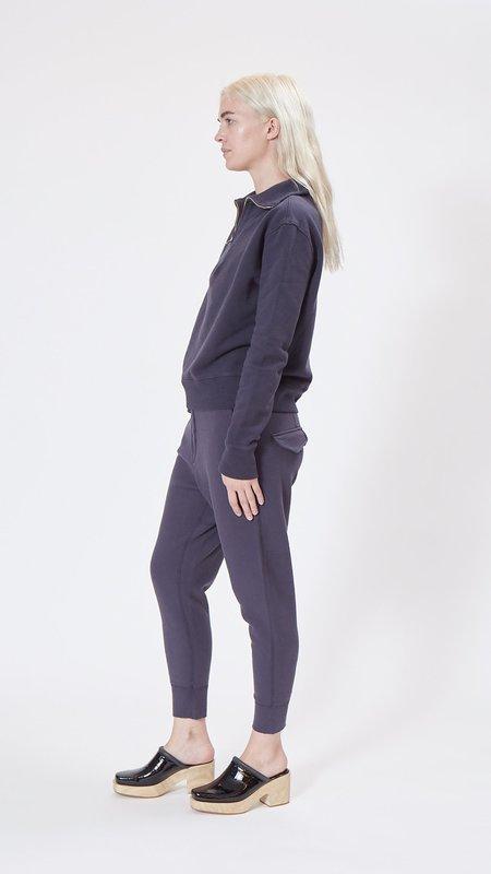 Nili Lotan Bentley Quarter Zip Sweatshirt - Navy