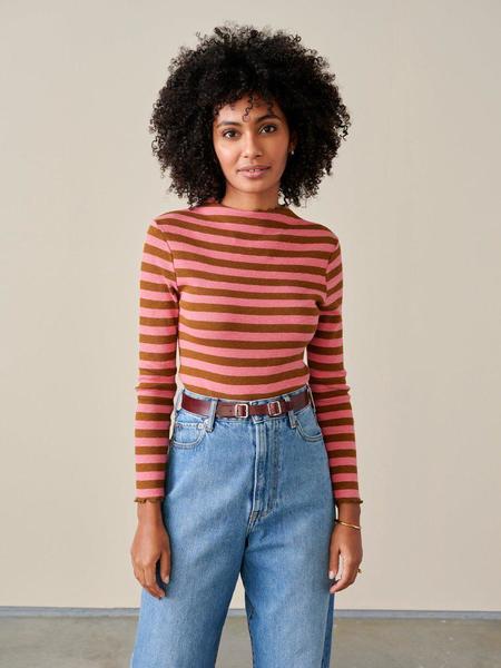 Bellerose Niba T-Shirt - Pink/Chestnut