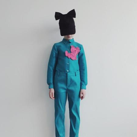 kids caroline bosmans pant - turquoise