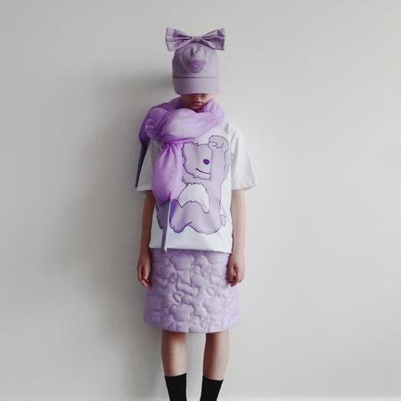 kids caroline bosmans t-shirt - white/purple teddy