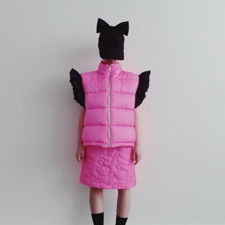 Kids caroline bosmans puffer vest - pink