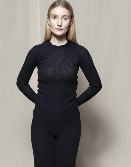 gudrun&gudrun Eco Wool Barba Pullover - Dark Blue