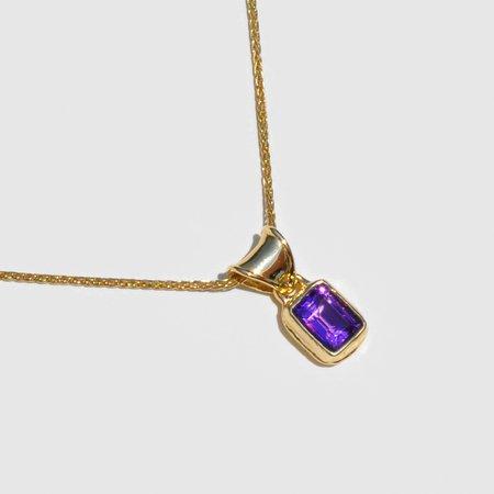 Mondo Mondo Mary Pendant Necklace - Gold/Amethyst