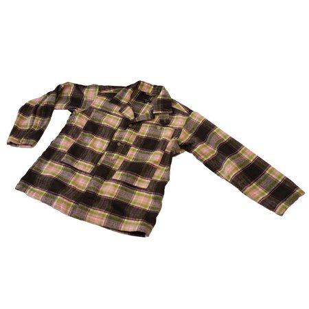 Engineered Garments Poly Wool Plaid Fatigue Shirt - Brown/Pink